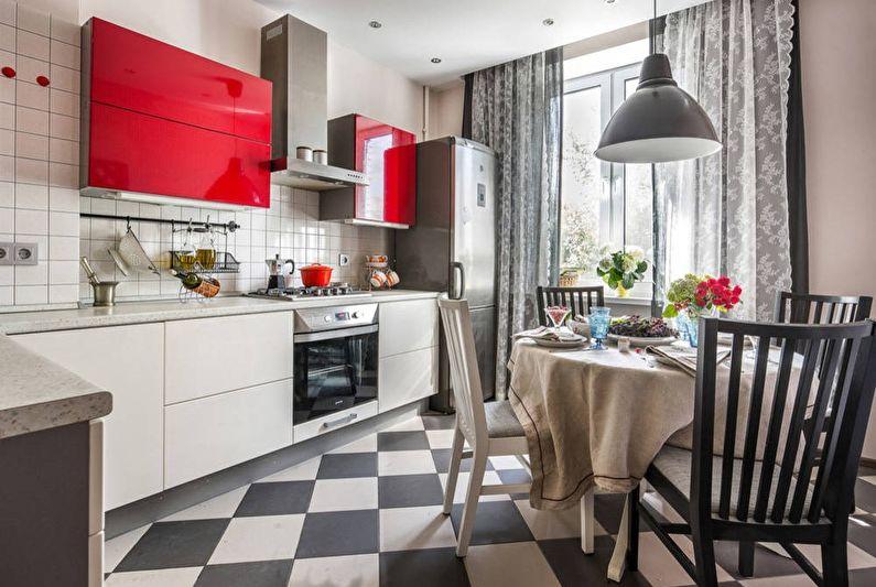 Дизайн кухни 11 кв.м. - Отделка пола