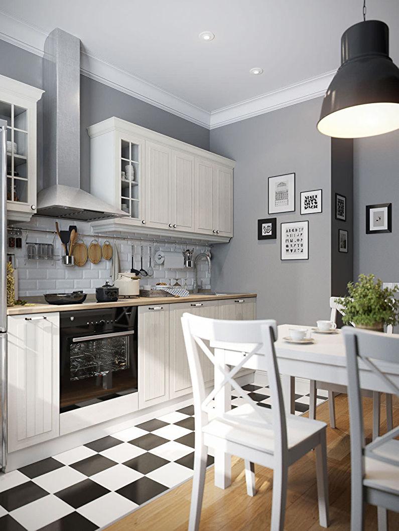 Дизайн кухни 11 кв.м. - Отделка потолка