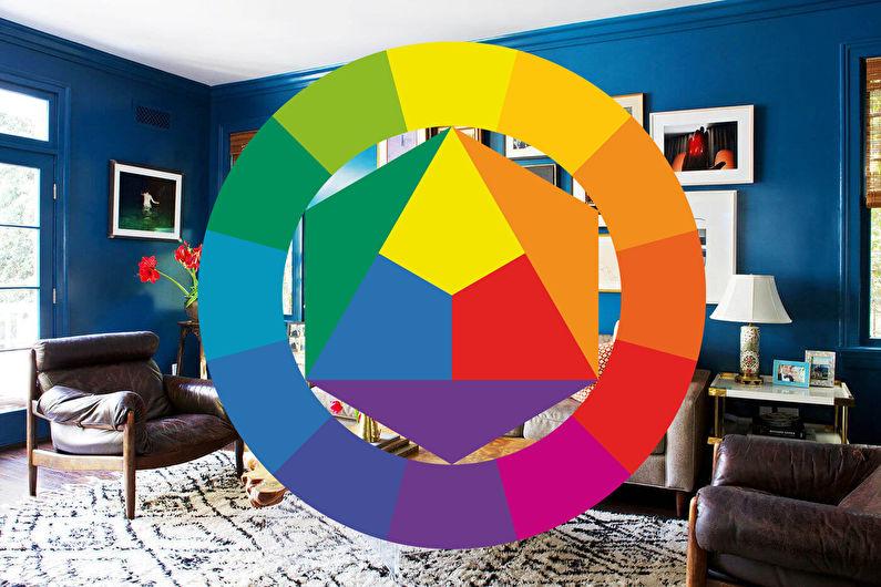 Сочетание цветов в интерьере гостиной - Цветовой круг