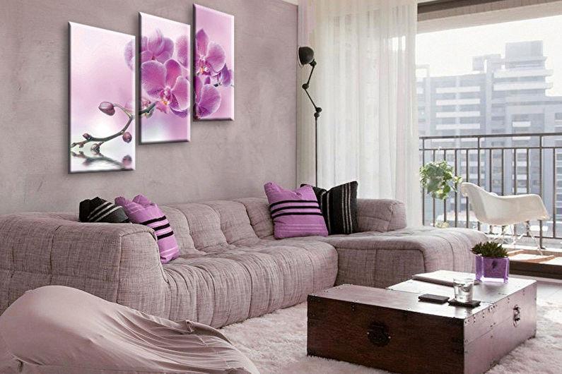 Сочетание цветов в интерьере гостиной - Генератор палитры