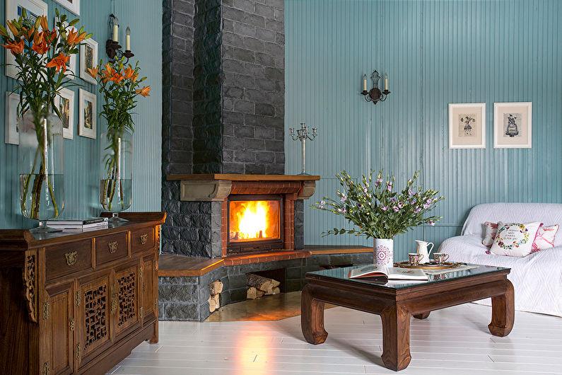 Сочетание цветов в интерьере гостиной - Холодная гамма
