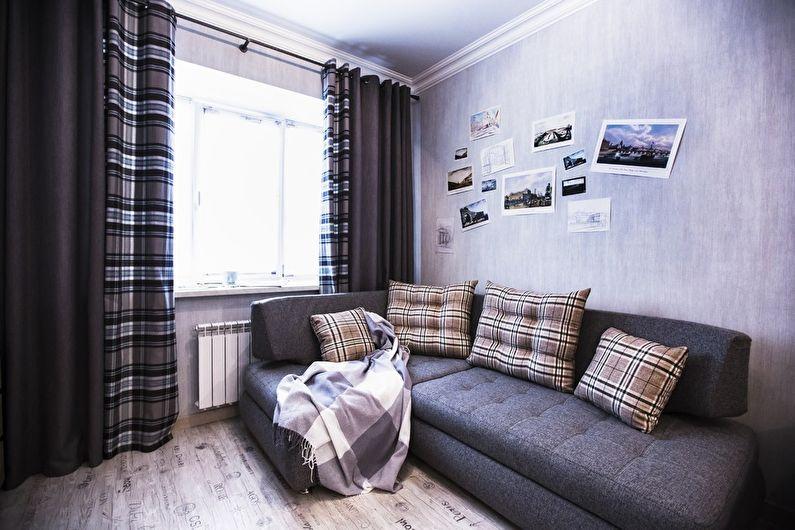 Die Kombination Von Farben Im Wohnzimmer   Foto