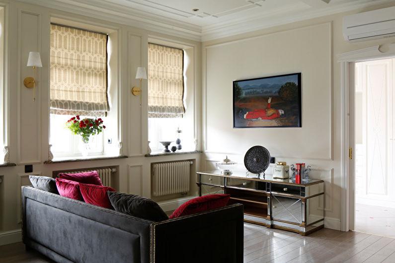 Сочетание цветов в интерьере гостиной - фото