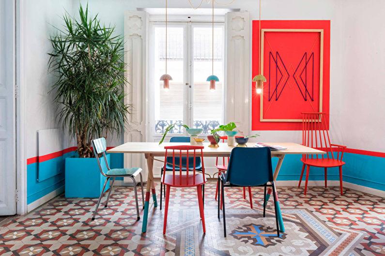 Сочетание цветов в интерьере кухни - Цветовой круг