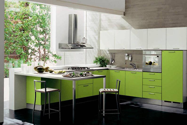 Сочетание цветов в интерьере кухни - Теплые сочетания