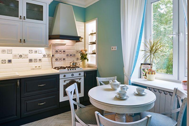 Сочетание цветов в интерьере кухни - Холодные сочетания