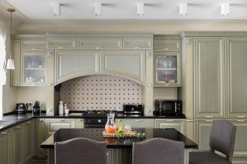 Сочетание цветов в интерьере кухни - фото