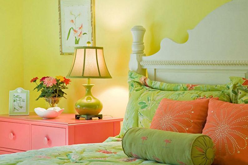 Фисташковый с желтым - Сочетание цветов в интерьере