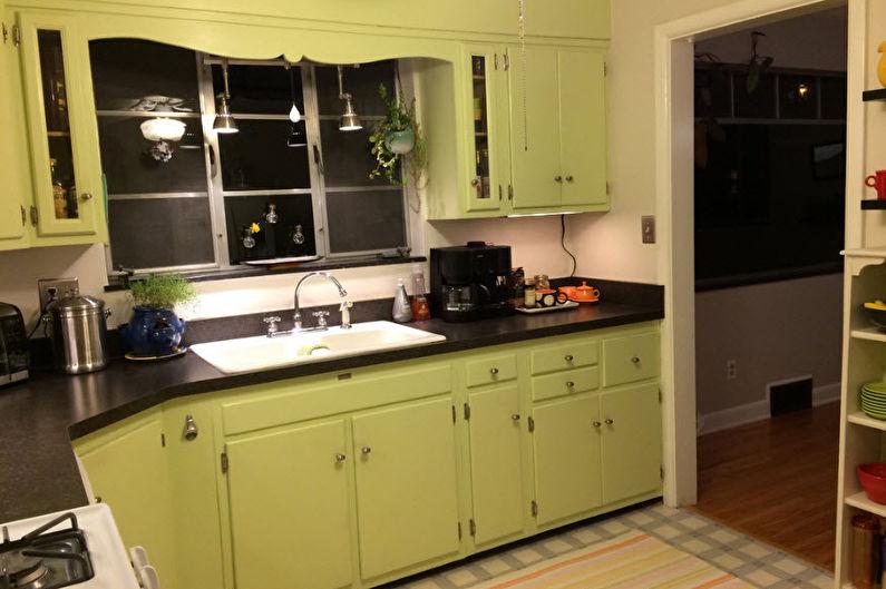 Фисташковый цвет в интерьере кухни - Дизайн фото