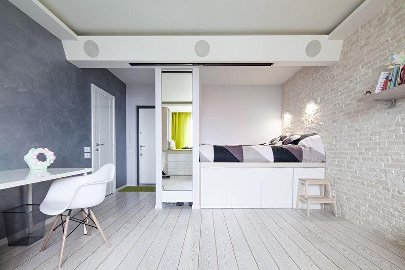 Обои под кирпич в интерьере детской комнаты - Дизайн фото