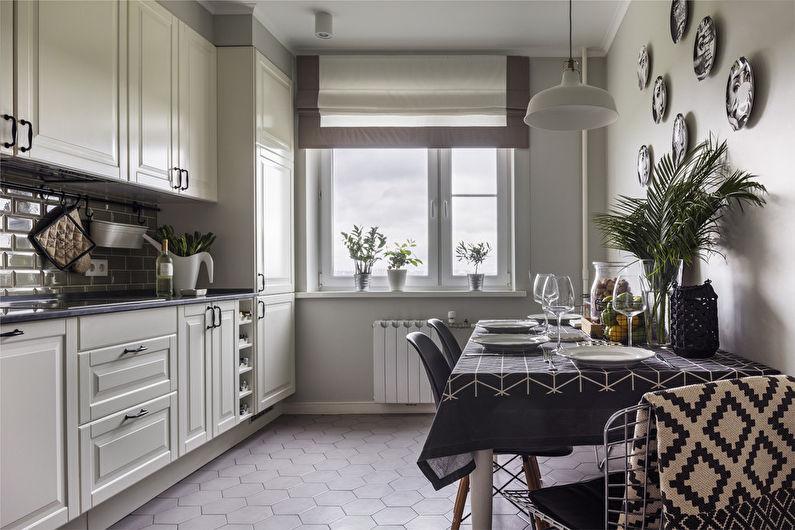 Дизайн интерьера кухни в стиле неоклассика - фото