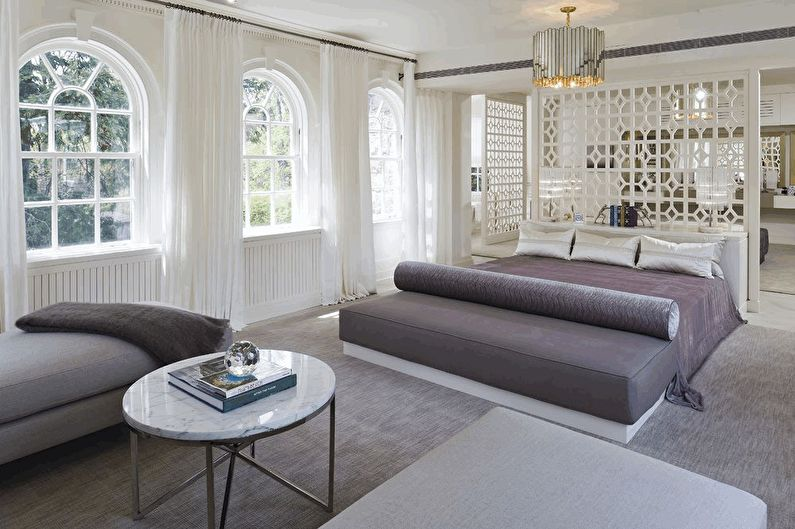 Дизайн интерьера спальни в стиле неоклассика - фото