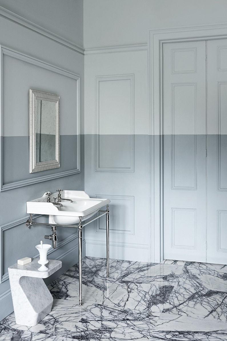 Дизайн интерьера ванной комнаты в стиле неоклассика - фото
