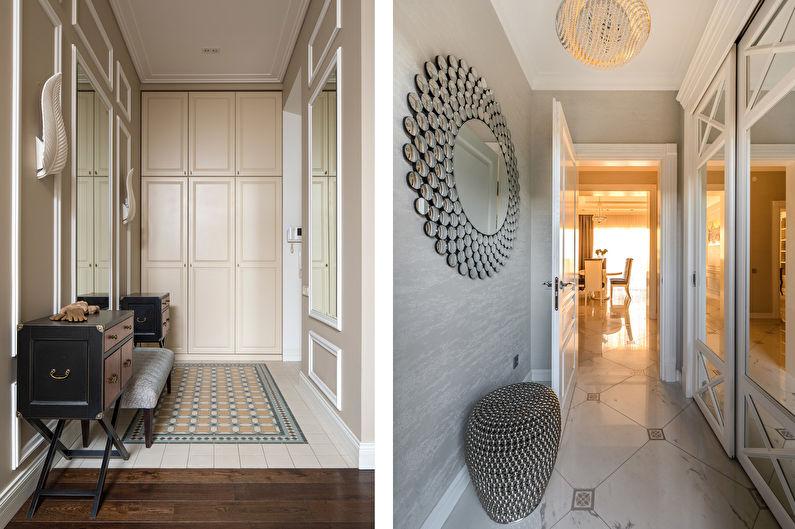 Дизайн интерьера прихожей в стиле неоклассика - фото