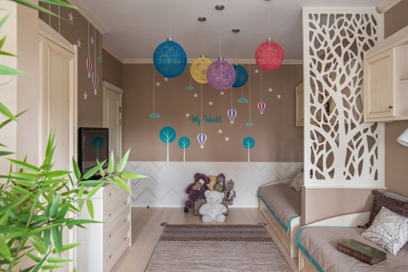 Дизайн интерьера детской комнаты в стиле неоклассика - фото