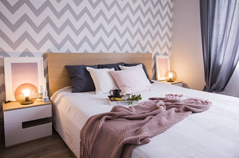 Спальня 10 кв.м. в современном стиле - Дизайн интерьера
