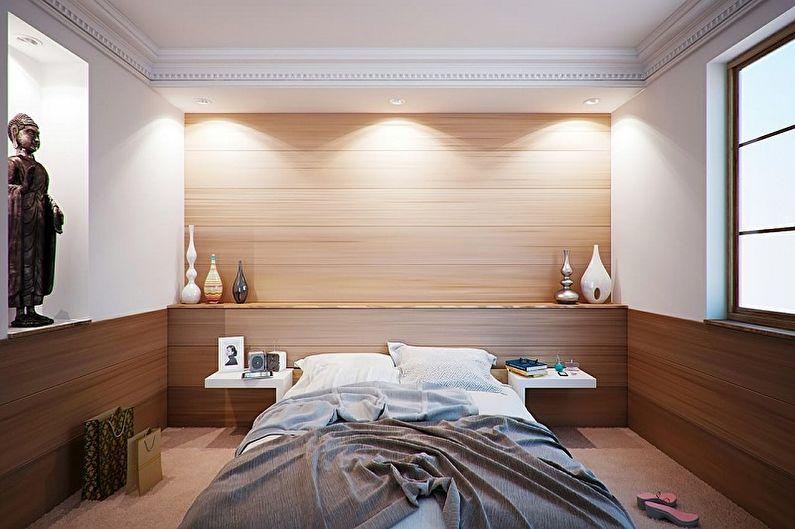 Спальня 10 кв.м. в восточном стиле - Дизайн интерьера