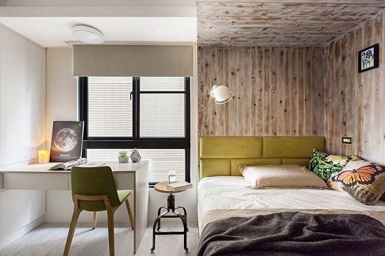 Спальня 10 кв.м. в эко-стиле - Дизайн интерьера