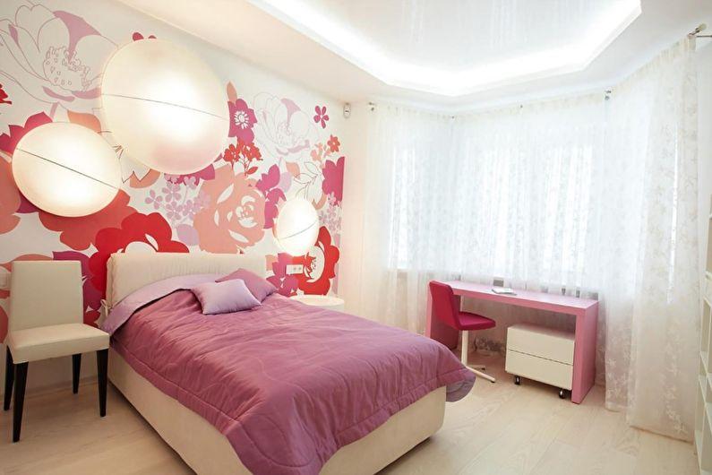 Розовая спальня 10 кв.м. - Дизайн интерьера