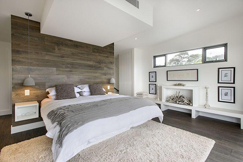 Дизайн спальни 10 кв.м. - Отделка стен