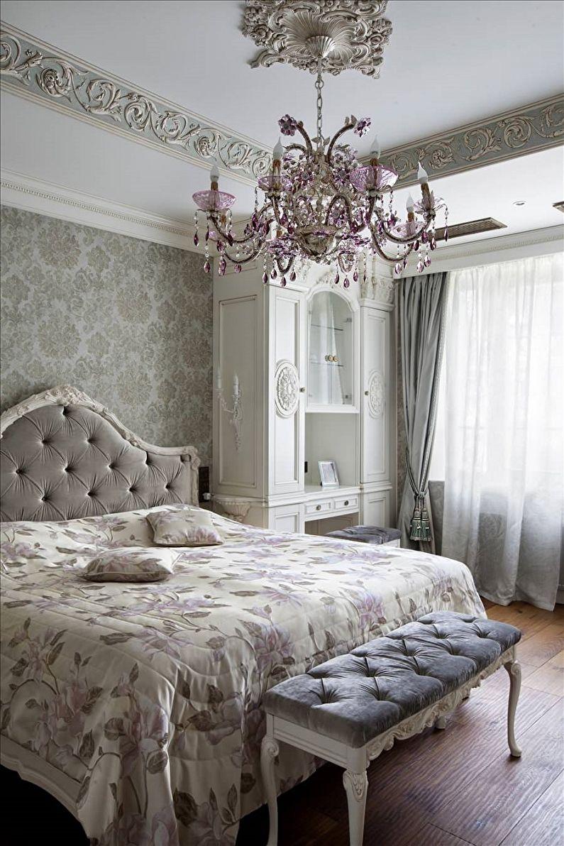 Дизайн спальни 10 кв.м. - Отделка потолка