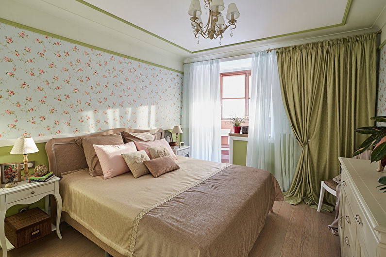 Дизайн интерьера спальни 10 кв.м. - фото