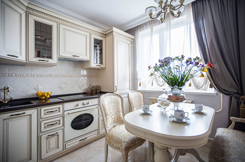 Кухня 10 кв.м. в классическом стиле - Дизайн интерьера