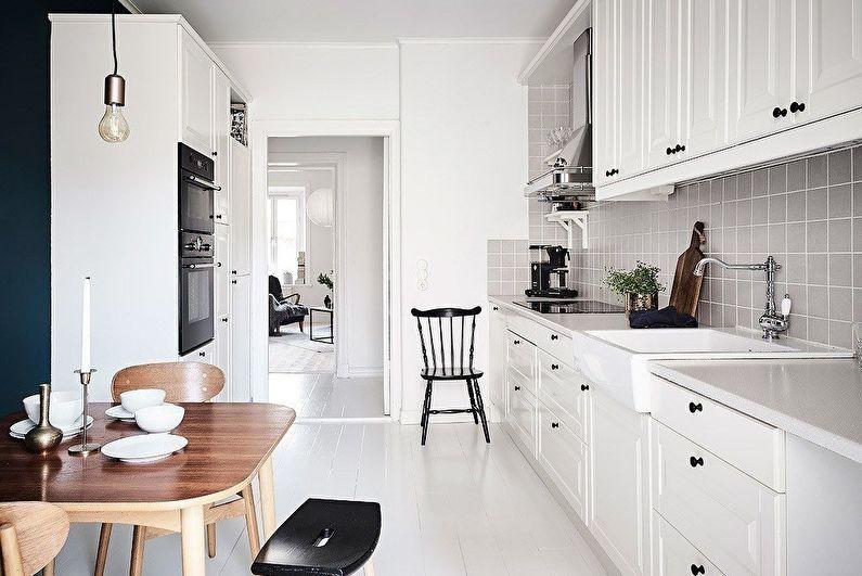 Кухня 10 кв.м. в скандинавском стиле - Дизайн интерьера