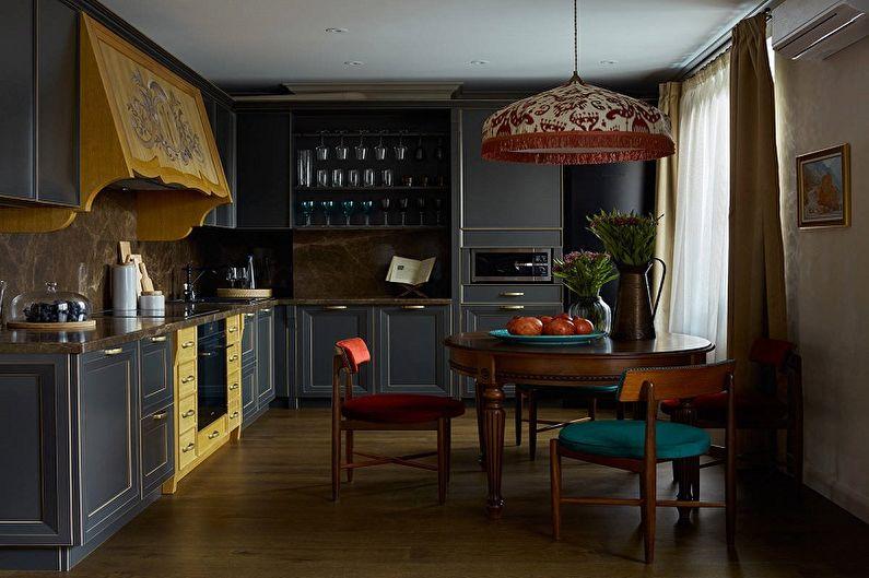 Кухня 10 кв.м. в стиле фьюжн - Дизайн интерьера