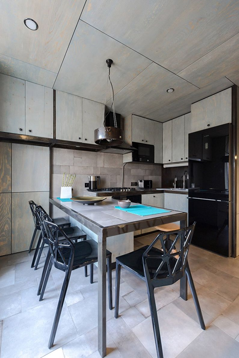 Серая кухня 10 кв.м. - Дизайн интерьера