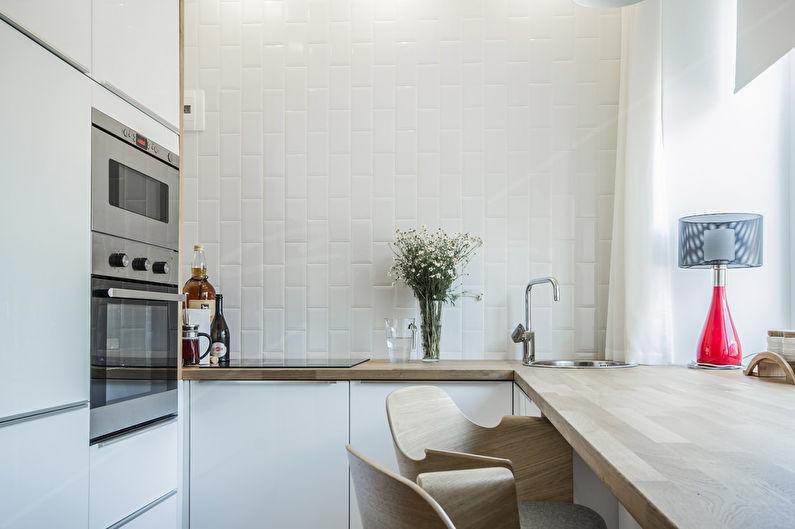 Дизайн кухни 10 кв.м. - Отделка стен