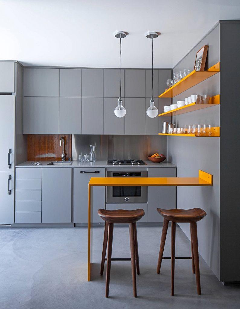 Дизайн кухни 10 кв.м. - Отделка потолка