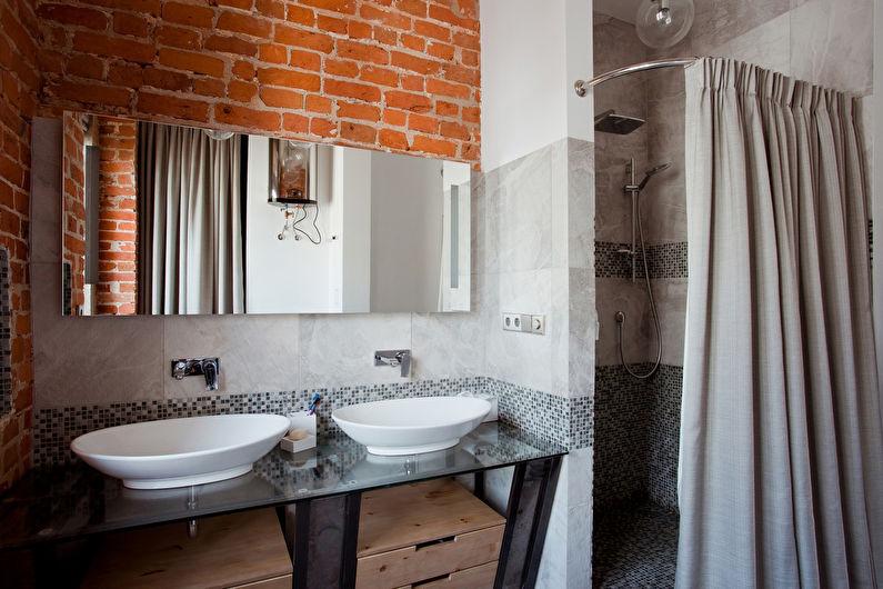 Дизайн ванной комнаты в стиле лофт - Особенности