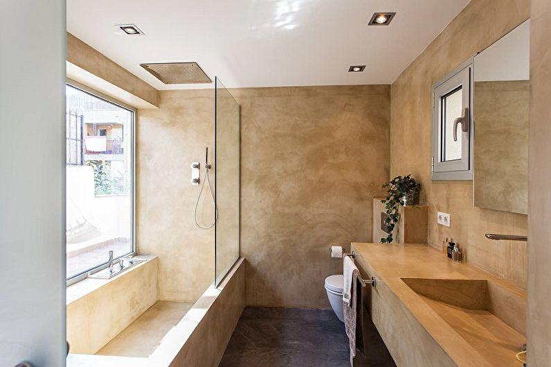 Бежевая ванная в стиле лофт - Дизайн интерьера