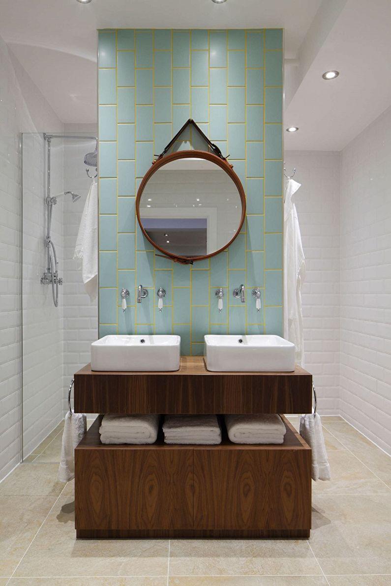 Коричневая ванная в стиле лофт - Дизайн интерьера