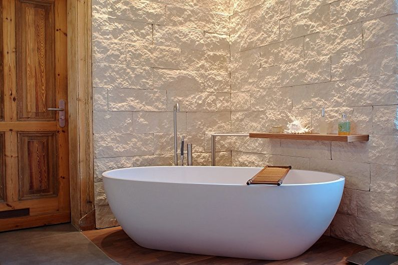 Дизайн ванной комнаты в стиле лофт - Отделка стен