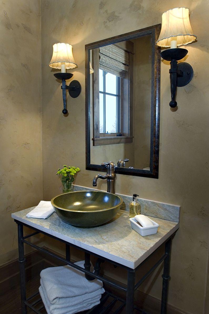 Дизайн ванной комнаты в стиле лофт - Сантехника
