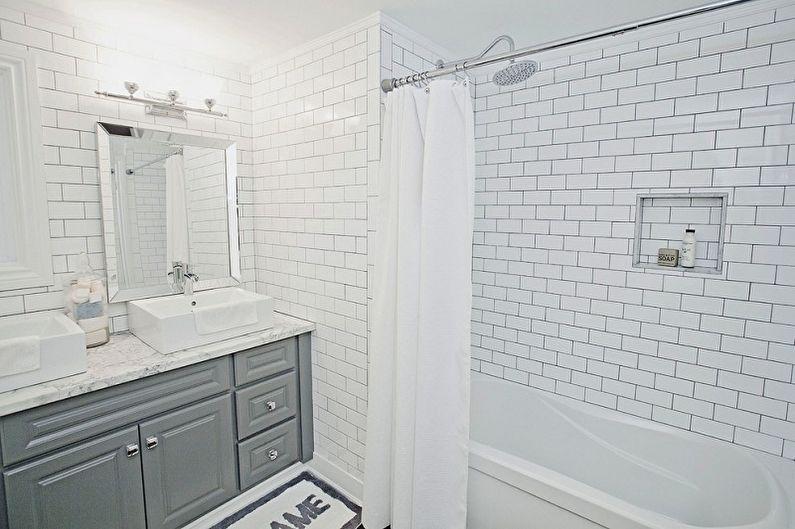 Маленькая ванная комната в стиле лофт - Дизайн интерьера
