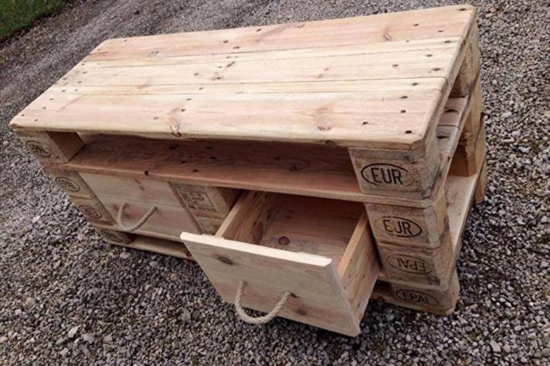 Мебель из поддонов - Столы