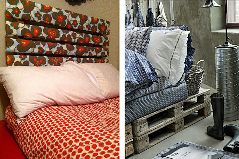 Мебель из поддонов - Кровать