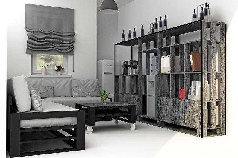 Мебель из поддонов - Стеллажи, комоды и полки