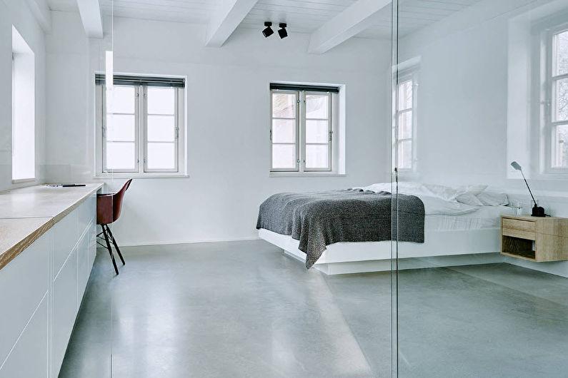 Белая спальня в современном стиле - Дизайн интерьера