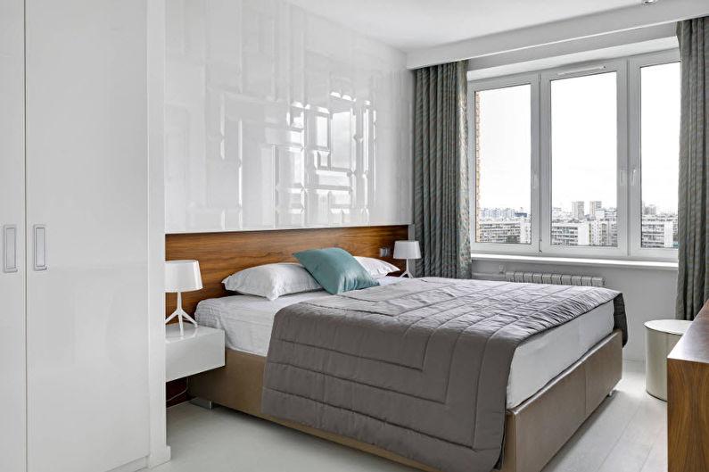 Серая спальня в современном стиле - Дизайн интерьера