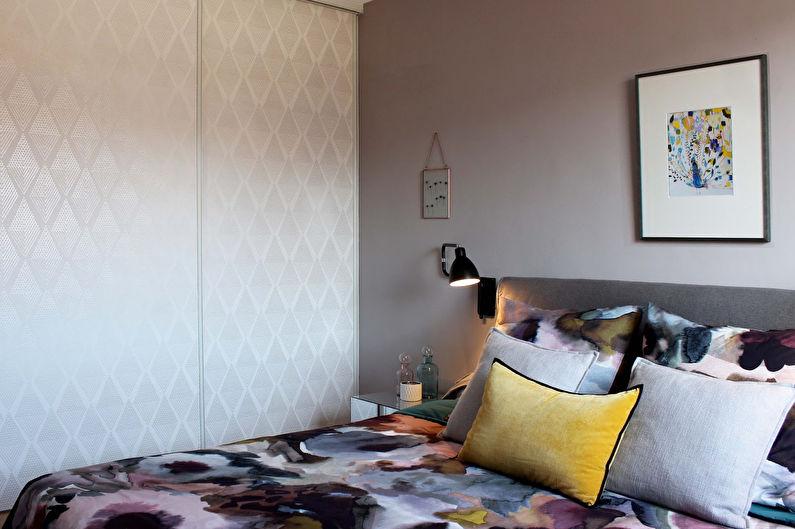 Бежевая спальня в современном стиле - Дизайн интерьера