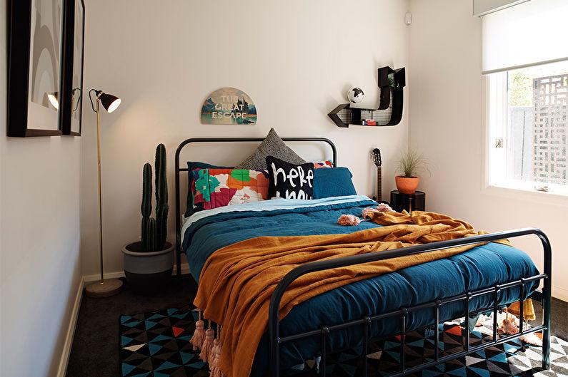 Дизайн спальни в современном стиле - Яркие вкрапления