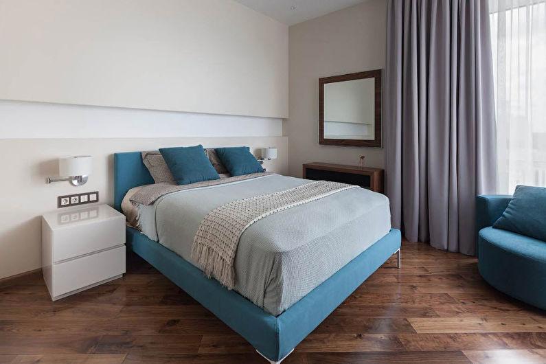 Дизайн спальни в современном стиле - Отделка пола