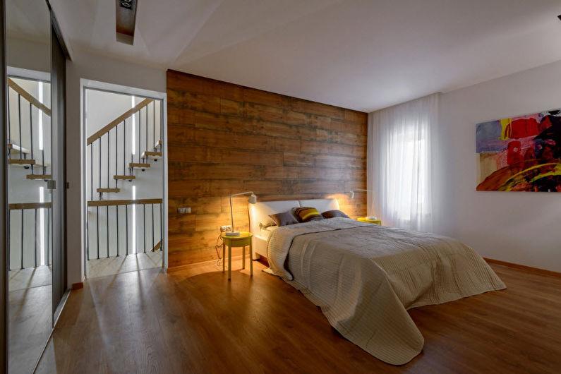 Дизайн спальни в современном стиле - Отделка стен