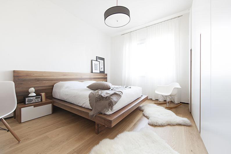 Дизайн спальни в современном стиле - Отделка потолка