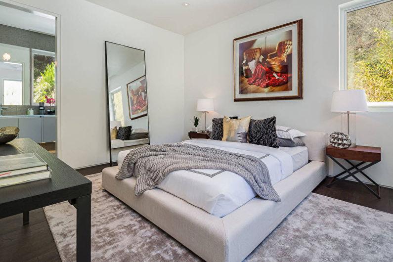 Дизайн спальни в современном стиле - Декор и освещение