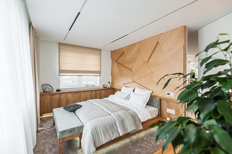 Дизайн интерьера спальни в современном стиле - фото